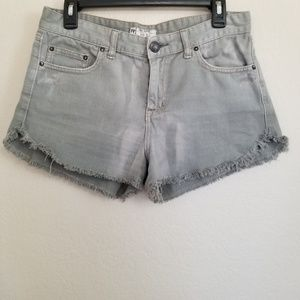 Free People Grey Denim Shorts 28